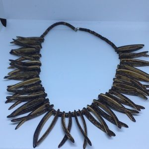 Jewelry - Tribal wooden necklace
